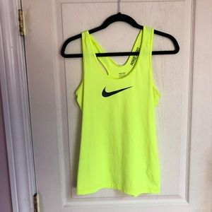 Worn once neon Nike Pro tank top